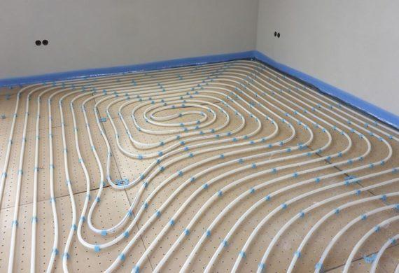 underfloor heating piping