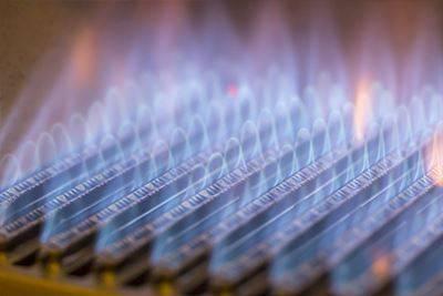 blue gas fire flame