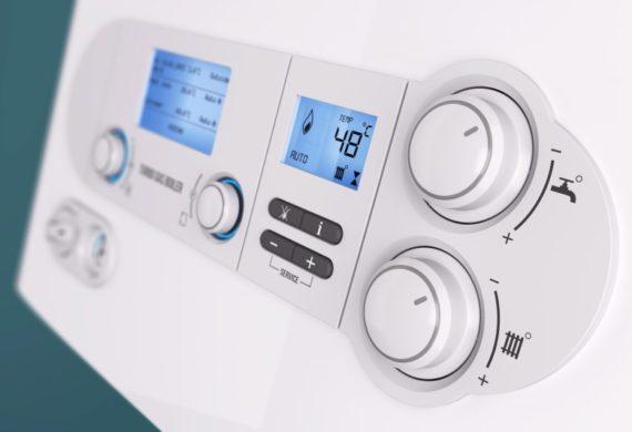 close up boiler dials 3d render